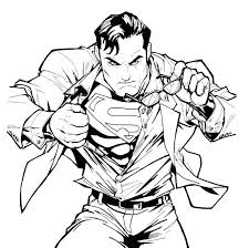 In this picture we see superman saving a man's life. The Best Free Superman Logo Coloring Page Images Download Coloring Home