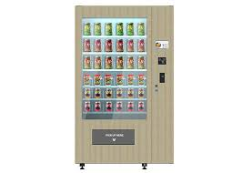 Wooden Vending Machine Magnificent Smart Fresh Salad Vending Machine With Wooden Outlook Elevator System