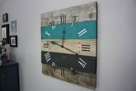 wondrous modern art wall clock  modern art deco wall clock metal
