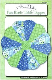 round table toppers table topper pattern plate fan blade table topper by sew biz round table toppers
