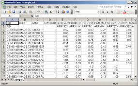 Sample Excel Files Genepattern