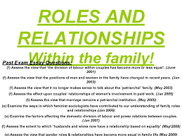 as sociology family roles and relationships in the family preview of page 1 roles and relationships