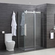 miles 10mm toughened glass sliding shower door and optional side panels