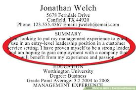 How To Write A Resume Experience How to Write a Functional Resume with Sample Resumes wikiHow 97