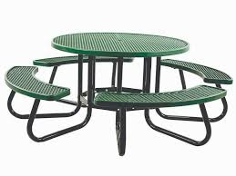 48 round portable picnic table vinyl plastisol pvc coated expanded metal
