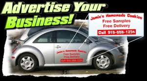advertise your business door decals on car