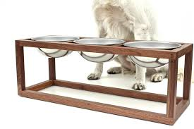 modern dog furniture. handmade minimal modern dog feeder wake the tree furniture co