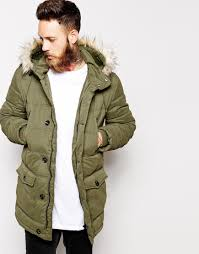 Asos Quilted Parka Jacket in Green for Men | Lyst & Gallery Adamdwight.com