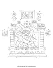 Choose the christmas coloring page you want to print, and make your own christmas coloring book! Christmas Coloring Pages Free Printable Pdf From Primarygames