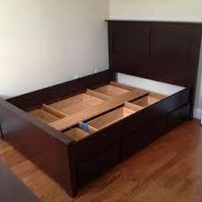 Custom Oak Storage Bed