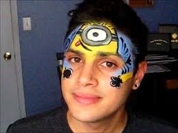 deable me minion face painting tutorial