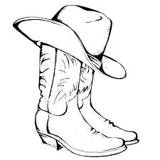 Cowboy Boots Coloring Pages Cowboy Picture Coloring Free Coloring