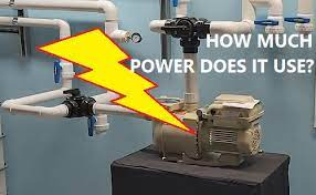 how much power does a pool pump use