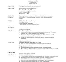 Resume For Internship No Experience Make Sample Resumes Forollege Students Resume Templates Internship