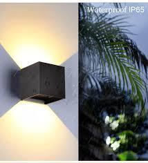 Adjustable <b>6W LED Wall</b> Lamp IP65 Waterproof <b>Indoor</b> & Outdoor ...