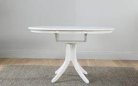 hudson round white extending dining table with 4 bewley slate chairs only 399 99 furniture choice