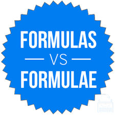 Formulas Or Formulae Which Is Correct Writing Explained