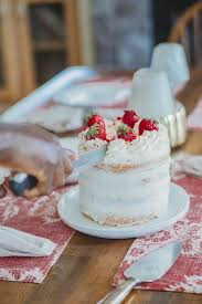 Strawberry Naked Cake With Rose Buttercream A Classic Twist