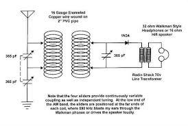 homebuilt crystal radio drives speaker schematic