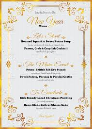 Event Menu Template Magnificent 48 Best New Year Menu Templates To Try This Season