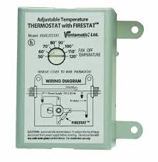 ventamatic xxfirestat 10 amp adjustable thermostat firestat ventamatic xxfirestat 10 amp adjustable thermostat firestat for power attic ventilators vents amazon com