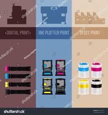 Printing Equipment Color Printer Cyan Magenta Stock Vector