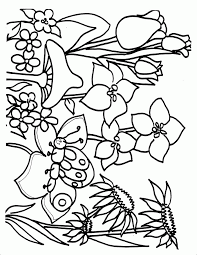 17 Spring Coloring Pages Printable Spring Flower Coloring Pages To