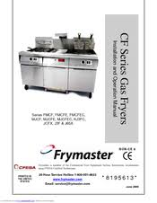 frymaster mjcf manuals frymaster mjcf installation and operation manual 50 pages cf series gas fryers
