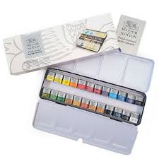 Winsor Newton Pro Artists Watercolour 24 Half Pan Metal Box Set 0190553
