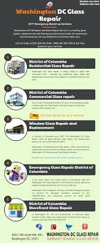 washington dc glass repair services new by washington dc glass repair infographic