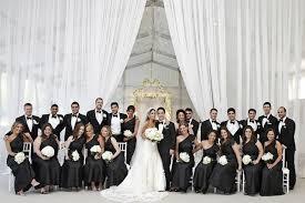 elegant black and white wedding elegant wedding with modern details at a private estate inside