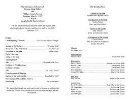 Free Printable Wedding Ceremony Programs Free Printable Wedding Programs Templates Wedding Program Template