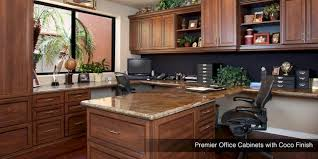 in home office. Custom Home Office Cabinets With Coco Finish In