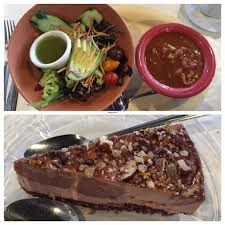 great full gardens midtown in reno house salad with avocado vegan chili and cheese cake all vegan