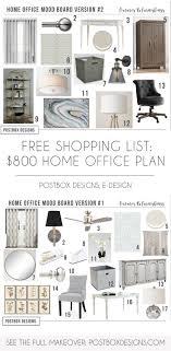 Home office plan Bedroom Grab The Free Plan Shopping List 800 Girl Boss Home Office Makeover On Playableartdcco Homeofficedesignhomeofficeideaspostboxdesignsonlineinterior