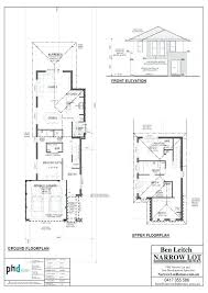 plans narrow lot house plans two story picture large size nsw