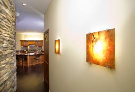 Feng Shui Lighting's Recessed Wall Sconce (they are the first to do this!)  holds a Red Marbled Plate. The Recessed Fixture Platform is great for  narrow ...