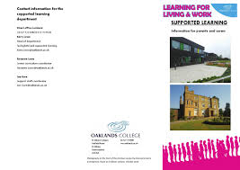 Leaflet supported learning by Oaklands College - issuu