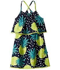 Appaman Kids Pineapple Lee Dress Toddler Little Kids Big