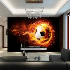 3d football mural wallpaper soccer full wall murals print decals home decor photo wallpaper