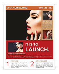 Beauty Woman With Perfect Makeup Beautiful Professional Holiday Make Up Red Lips And Nails Beauty Flyer Template