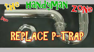 replace leaky bathroom sink drain pipe p trap kit you how to