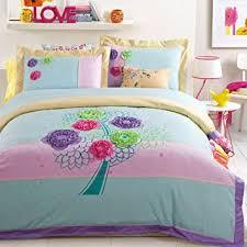 girls duvet covers. Flower Tree Cyan Bedding Duvet Cover Set Girls Teen Luxury Modern Gift Covers