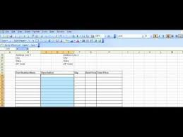 purchase order log template excel example purchase order template created in excel youtube