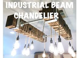 how to change a recessed light into a chandelier picture of industrial beam chandelier with led