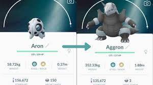 Evolving Max CP of ARON To AGGRON! Pokémon Go - YouTube