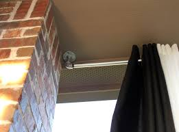 incredible affordable outdoor curtain rods from unexpected objects outdoor curtain rod ideas
