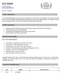 40 Perfect CCNA Resume Samples That You Should Use Magnificent Linux Fresher Resume Format