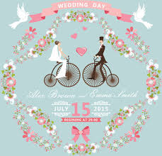 romantic wedding cards retro style vector free vector in Wedding Card Vector Graphics Free Download romantic wedding cards retro style vector free vector 1 42mb Vector Background Free Download