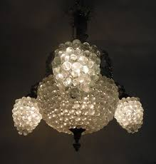 a venetian chandelier with hand blown murano glass lamp shades italy mid 20th